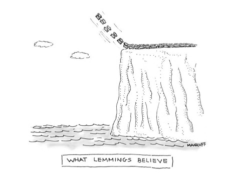 robert-mankoff-what-lemmings-believe-new-yorker-cartoon